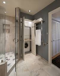 laundry room in bathroom ideas hidden laundry room in a bathroom just use the washer as a dirty