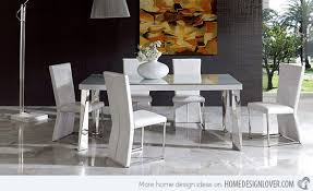 White Modern Dining Chairs 15 Sophisticated Modern Dining Room Sets Home Design Lover White