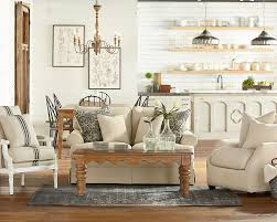 traditional open plan living room magnolia home