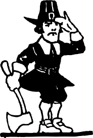 black and white thanksgiving clipart pilgrim man clipart front and back collection