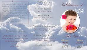 cheap funeral programs lifecycleprints celebration of funeral program templates