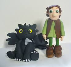 toothless cake topper 3d fondant figures hiccup and toothless how to your