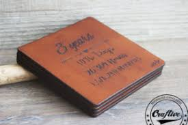 3rd year anniversary gift leather anniversary gift archives craftive leather