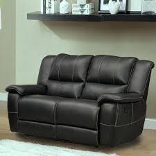 loveseat recliner leather with console dual reclining rocker