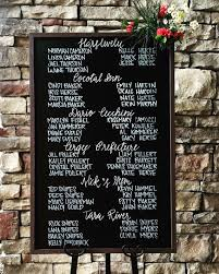wedding table assignment board wedding table assignments seating chalk board table listings