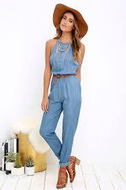 teal jumpsuit rvca be about it jumpsuit chambray jumpsuit blue jumpsuit 79 00