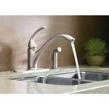 kohler brushed nickel kitchen faucet kohler forte single handle standard kitchen faucet with side sprayer