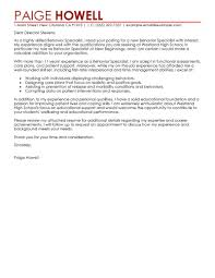 resume cover letter exle leading professional behavior specialist cover letter exle