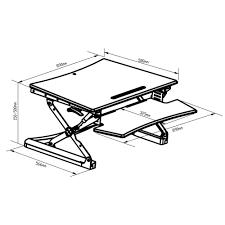 Desk Risers Uk Adjustable Height Desk Riser Sit Stand Workstation Raise 15