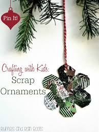 crafting with handmade kid ornaments
