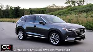 mazda 2016 range 2016 2017 mazda cx 9 signature exterior the most complete review