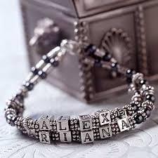 bracelet name beads images Beaded name bracelet better homes gardens jpg