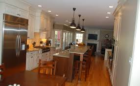 galley kitchen with island layout best galley kitchens with islands awesome ideas 9757