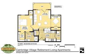 floor plans cambridge village of wilmington one bedroom deluxe