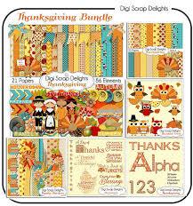 thanksgiving bundle save 50 scrapbook kit w turkey pilgrim