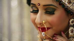 hindu nose ring of a happy indian wearing a nose ring stock footage