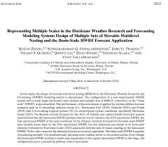 paper on a new way to run forecast models with multiple hurricanes