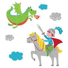 chambre chevalier sticker mural et chevalier motif enfant garçon pour