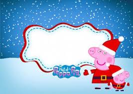 peppa pig christmas free printable invitations