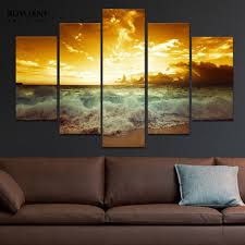 posters for home decor the tides and sunset seascape paintings for home decor canvas