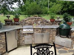 cabinet outdoor kitchen green egg curved custom outdoor kitchen
