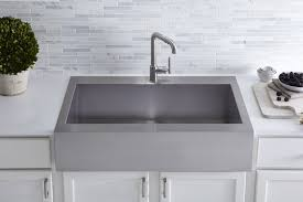Kohler Vault TopMount SingleBowl Stainless Steel Kitchen Sink - Apron kitchen sinks