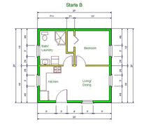 small house floorplan garage conversion i am guessing this is about 20x20ft so 400 sq ft