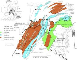United States Map Rivers And Mountains by Radon In Ground Water Of The Lower Susquehanna And Potomac River