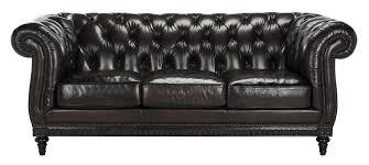 classic tufted leather nailhead sofa safavieh com