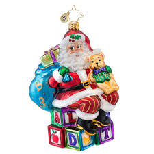 christopher radko ornaments 2014 radko toys ornament abc santa