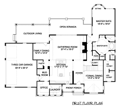 craftsman style house plan 4 beds 4 50 baths 4300 sq ft plan