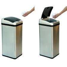 tips 13 gallon touchless trash can trash cans lowes