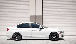 matte white bmw 328i matteblack f30 328i side
