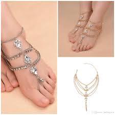 ankle bracelet from images 2018 best selling ankle bracelet luxury golden silver rhinestone jpg
