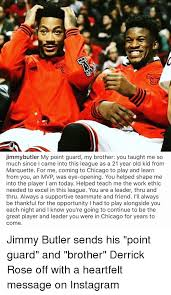 jimmybutler my point guard my brother you taught me so much since