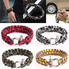 survival rope bracelet kit images Free shipping stainless steel buckle rope paracord bracelet hiking jpg