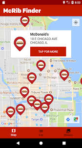 mcdonald u0027s mcrib finder android apps on google play
