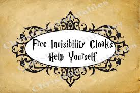 harry potter free invisibility cloaks instant download