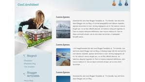 cool architect blogger template btemplates