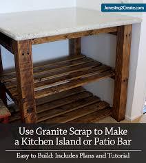 Plans To Build A Kitchen Island Kitchen Island Plans Make It Using Granite Scrap Jonesing2create
