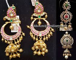 pachi work earrings pachi pendant and chandbalis jewellery designs