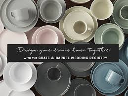 wedding registry dinnerware design your home with the crate and barrel wedding registry