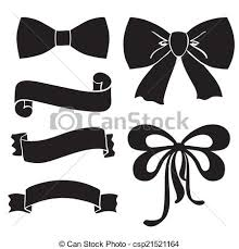 bows and ribbons silhouette bows ribbons parchment clip vector search