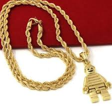 necklace gold man images 14k gold plated lego man pendant 24 quot rope chain industry pieces jpg