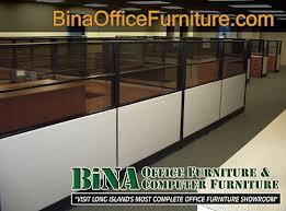 BiNA Office Furniture Wood Trim Pane Office Cubicle With Windows - Bina office furniture