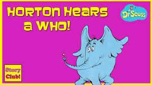 dr seuss horton hears aloud book