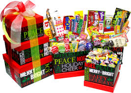 christmas candy gifts chalkboard nostalgic candy gift tower