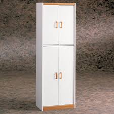 Tall Storage Cabinet With Doors And Shelves by Ameriwood White Double Door Pantry Cabinet Hayneedle