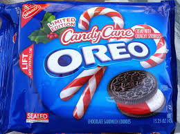the holidaze candy cane oreo cookies