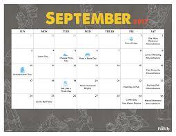 disney desk calendar 2017 september 2017 printable calendar disney family